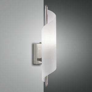 Moderne Wandleuchte mit geschwungenem Glas, Schalter