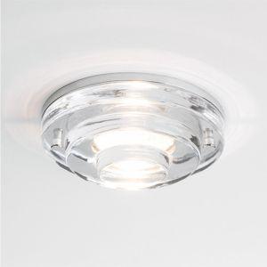 LHG NV-Einbaustrahler in Chrom und Klarglas, ohne Trafo