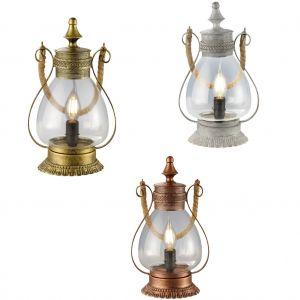 Orientalische Tischleuchte Linda aus Glas, 3 Farben