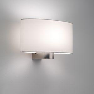 LHG Ovale Wandleuchte mit Stoffschirm 28,5 cm weiß weiß