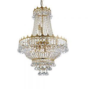 Kronleuchter 9-flg. Versailles aus Kristallglas, 2 Oberflächen