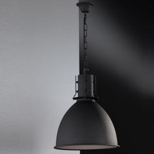 Pendelleuchte aus Metall in schwarz matt schwarz