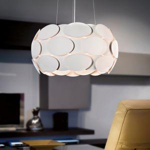 Pendelleuchte aus weiß lackiertem Stahl mit indirektem Licht