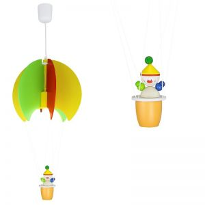 Pendelleuchte Ballon mit 3D Figur - Kasper multicolor, Kasper