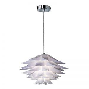 Pendelleuchte im Blüten-Design weiß - Ø 50 cm