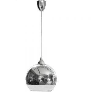 Pendelleuchte Globe chromfarbig - L 22,00 cm, 25,00 cm