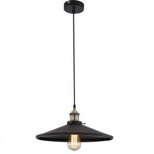 Pendelleuchte Knud, inklusive Edison Glühbirne Leuchte in Schwarz schwarz