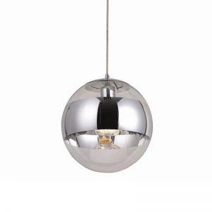 Pendelleuchte Kugel, Glas/Chrom, LED Leuchtmittel einsetzbar, D=30cm 30,00 cm