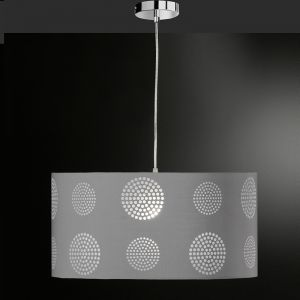 Pendelleuchte 50 cm mit Ausbrenner-Dekor, Grau grau