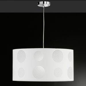 Pendelleuchte 50 cm mit Ausbrenner-Dekor, Weiß weiß
