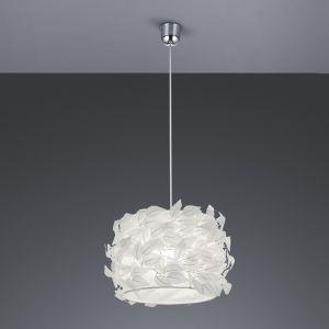 Pendelleuchte Nest aus Kunststoff - Ø 30cm in weiß