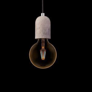 Pendelleuchte Tulum - Beton - Kabel Schwarz