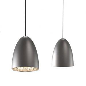 Pendelleuchte, Dekoreinhänger, stahl, Fassung E27 für LED Leuchtmittel  stahlfarbig, gebürstet