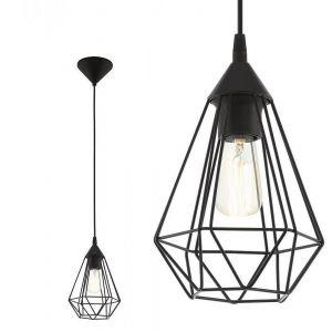 Pendelleuchte, Industrial Design, Ø 17,5 cm, schwarz schwarz