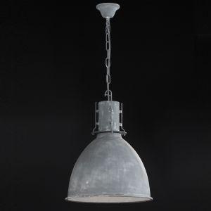 Pendelleuchte, Industrial-Look, Fabrikleuchte, D=42cm, beton matt grau