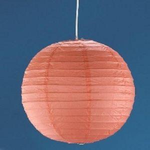 Pendelleuchte, Japankugel, orange, D 40 cm, inkl. Schnurpendel