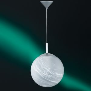 Pendelleuchte, Kugel, Fassung E27 für LED, Alabasterglas, D=30cm 1x 77 Watt, 30,00 cm