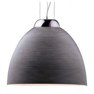 Pendelleuchte, modern, D= 40 cm, E27, LED geeignet, Design, grau grau