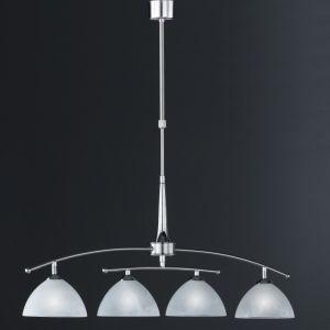 Pendelleuchte, Nickel matt-chrom, verstellbar, 4-flammig, LED geeignet