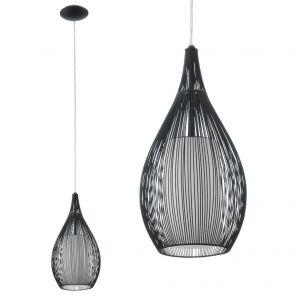 Pendelleuchte, Schwarz, LED geeignet, modern schwarz/weiß