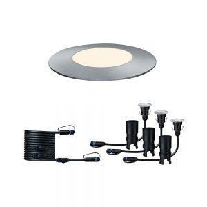 Plug & Shine 3-er Erweiterungsset Floor Mini IP65 3000K 3x2,5W