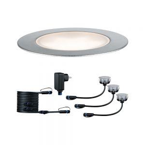 Plug & Shine drei LED Einbauleuchten Floor Basisset