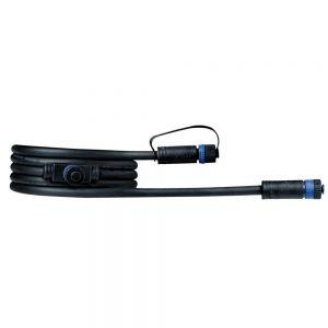 2m Plug & Shine Kabel IP68  Schwarz mit zwei Anschlussbuchsen