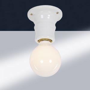 LHG Puristische Deckenleuchte aus weißem Keramik 1x 100 Watt, weiß