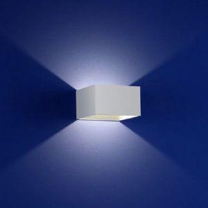 Quadratische LED-Wandleuchte mit tollem Lichteffekt - in Weiß weiß