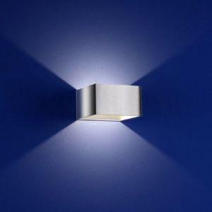 Quadratische LED-Wandleuchte mit tollem Lichteffekt - in Chrom silber, Chrom