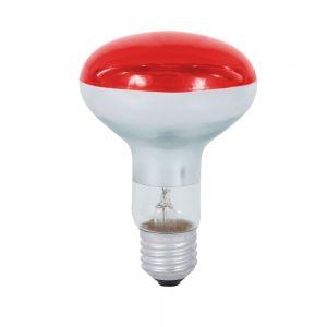 R80 Reflektor 80° Abstrahlwinkel, 60 Watt, E27, in rot  und grün