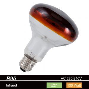 R95 Reflektor Infrarotstrahler 100W E27