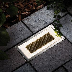 Recheckige Bodeneinbauleuchte Solar Cube/Box LED