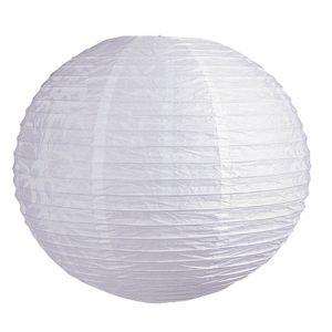 Reis-Papierlampenschirm Ø in 40cm in Weiß weiß