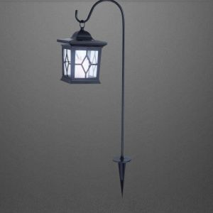 Romantische Solarleuchte inklusive LED-Leuchtmittel, IP44 in Schwarz