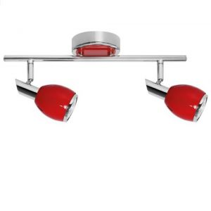 Roter LED Deckenstrahler Colors , Chrom, verschiedene Ausführungen