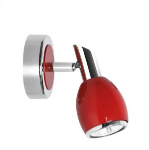 Roter LED-Wandstrahler, 1 flammig