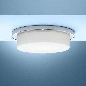 Deckenleuchte Durchmesser 35cm in chrom mit Bajonett-Schnellverschluss 1x 53 Watt, A++ - E