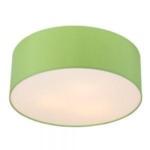 LHG Runde Deckenleuchte mit Lampenschirm aus Chintz-Stoff - Ø62cm - Apfelgrün , apfelgrün