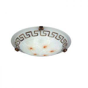 runde Deckenleuchte mit Mäander-Band Muster in 30cm Durchmesser 1x 60 Watt, 30,00 cm
