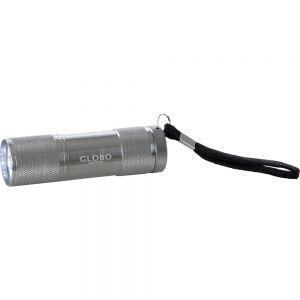 runde LED Taschenlampe metallicmit Schlaufe Blisterpack inkl. Batterie ø 26 cm