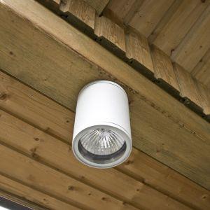 LHG Runder Aussendownlight in moderner Optik - weiß weiß, 13,50 cm, 10,70 cm