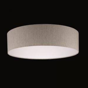 Runder Lampenschirm - Leinen-Stoff sandfarbig - 50 cm