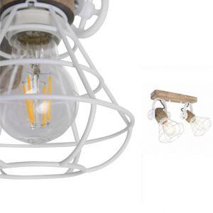 Rustikale Leuchte für Wand oder Decke Anne Geurnesey in weiß weiß