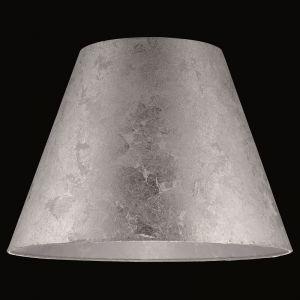 Schirm Blattsilber transparent Ø 40cm, Höhe 28cm Kunststoff, silber, Blattsilber