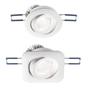 Schwenkbarer LED-Einbaustrahler Sigma, zwei Formen