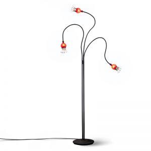 Serien-Lighting 3-flammige Stehleuchte Poppy