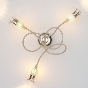 Serien-Lighting 3-flammige Wandleuchte Poppy