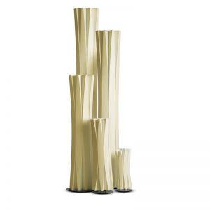Slamp Stehleuchte Bach in gold, Large - Höhe 116cm 2x 75 Watt, 116,00 cm, Schnurzwischenschalter, 31,50 cm