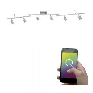 Smart Home Deckenleuchten Q®-Vidal, 6-flammig 6x 4,8 Watt, 22,00 cm, 186,50 cm, 13,00 cm